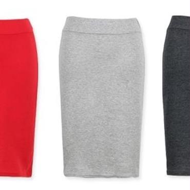 [ボトムス スカート]♪ベーシック スカート ブラック・チャコール・グレー・ブルー・レッド(フリー)♪