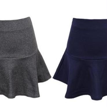 [ボトムス スカート]♪オープン フレアー スカート グレー・チャコール・ネイビー・ブラック(フリー)♪