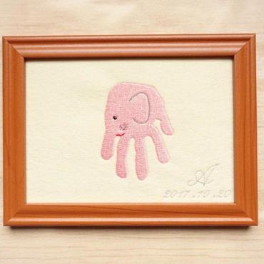 刺繍手形アート(動物)