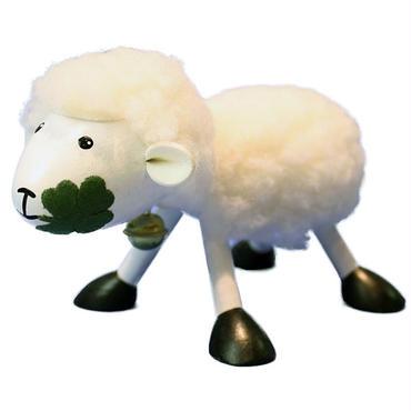 木の動物 Animal&Zooシリーズ【羊/ホワイト】チェコABAfactory社製