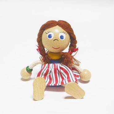 チェコおすわり人形 おさげ髪の少女withスカート ABAfactory