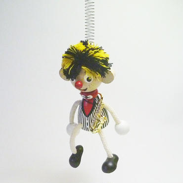 チェコのおすわり人形 サックス奏者バネ付人形