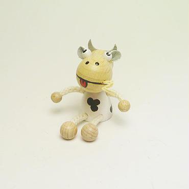ミニ人形マグネット 牛ホワイト
