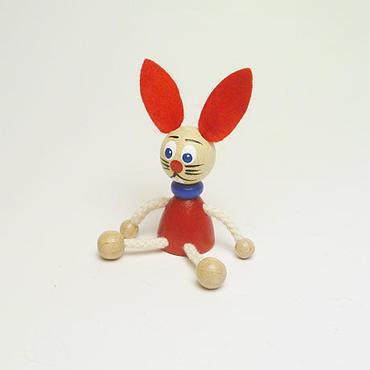 ミニ人形マグネット ウサギ