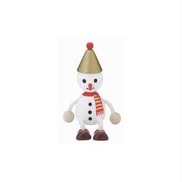 木の人形 スノーマン