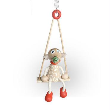 チェコおすわり人形 ヒツジ+ブランコ LUMAZ