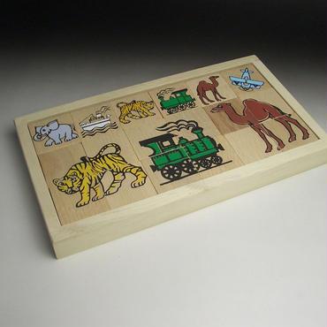MIK  木のパズル 6種 乗り物と動物