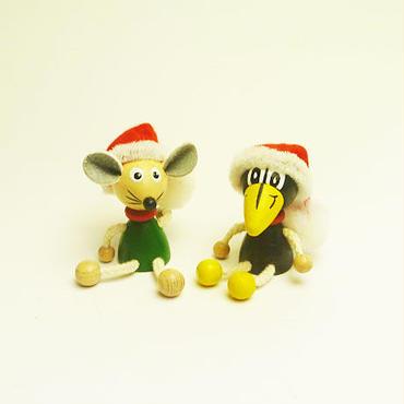 ミニ人形マグネット ウインターバージョンマウスとラーベン