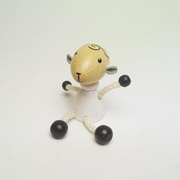 ミニ人形マグネット 羊ホワイト
