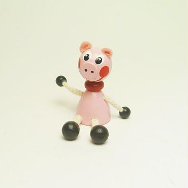 ミニ人形マグネット ブタ