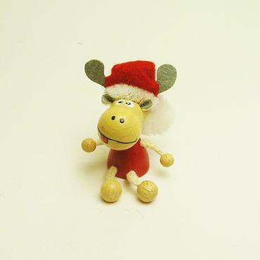 ミニ人形マグネット  クリスマスエルク(トナカイ)