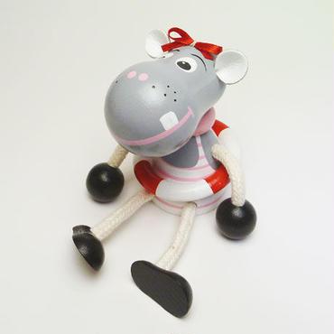 チェコおすわり人形 スイミングヒッポ・ピンク ABAfactory