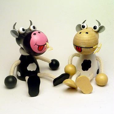 チェコおすわり人形 牛のペア ABAfactory