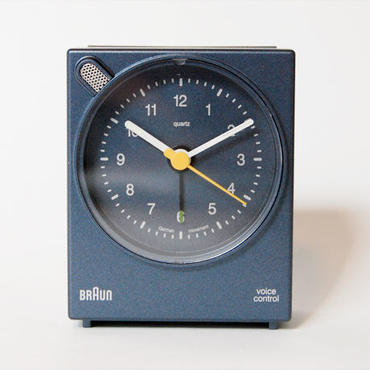 BRAUN アラームクロック ボイスコントロール BNC004(ネイビー)