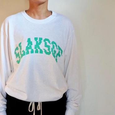 SLAKカレッジロングスリーブTEE/ホワイト
