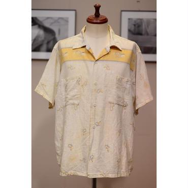 BROOKES LANE 50'S カスリ&アトミックパターンオープンカラーシャツ