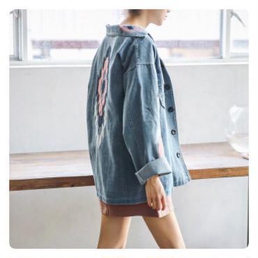 Embroidery デニムジャケット