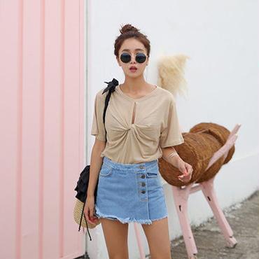 TwistカラーTシャツ