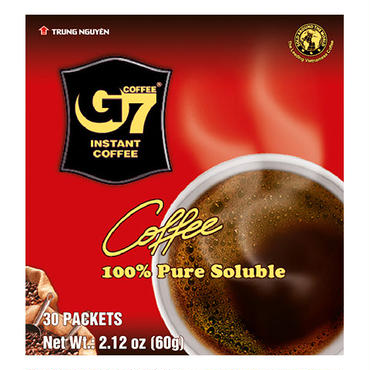 G7 Pure Black Instant Coffee(Bag 30 sachets)