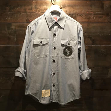 5656WORKINGS/RP WORK SHIRT_BLUE CHAMBRAY