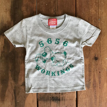 5656KIDS/BEAN TEE_GRAY