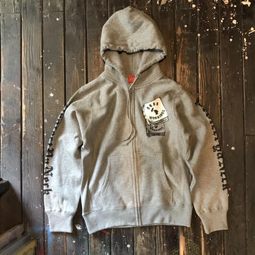 5656WORKINGS/PYN ZIP HOODIE_GRAY