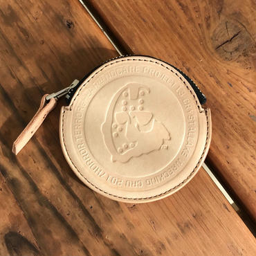 NOCARE/NC OG LOGO LEATHER COIN CASE_NATURAL