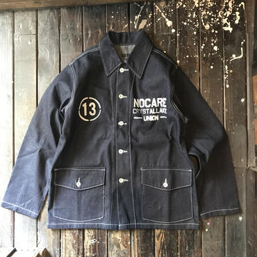 NOCARE/US TYPE 40's INDIGO DENIM WORK UNIFORM