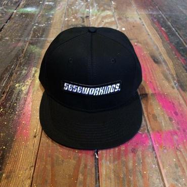 5656WORKINGS/6PANEL CAP CAP_BLKxBLK
