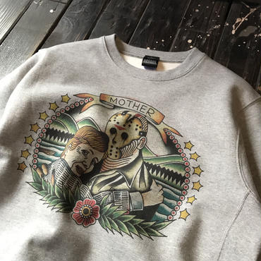NOCARE/KILLMOM CREW NECK SWEAT_GRAY