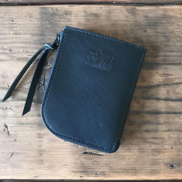 5656WORKINGS/L MOLD BLK LEATHER WALLET_BLACKxNUME