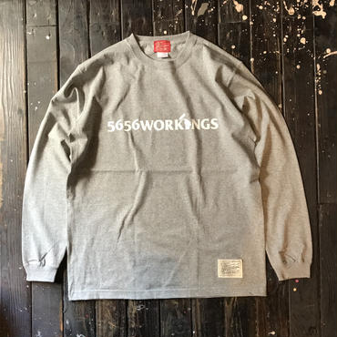 5656WORKINGS/LOGO L/S UNIFORM_GRAY