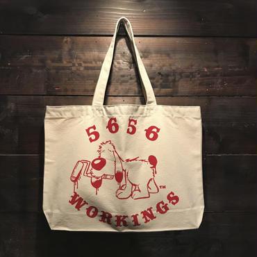 5656WORKINGS/BEAN DIG BAG_NATURAL