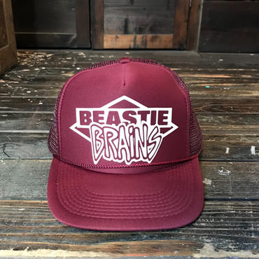BEASTIE BRAINS/MESH CAP_BURGUNDY