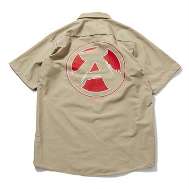 "S2.""The Wolf got hands dirty"" Work Shirts (SAND)"