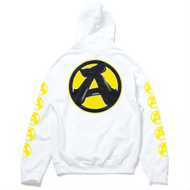 """5.""""A"""" Pullover Hoodie (WHITE)"""
