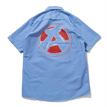 "S3.""The Wolf got hands dirty"" Work Shirts (BLUE)"