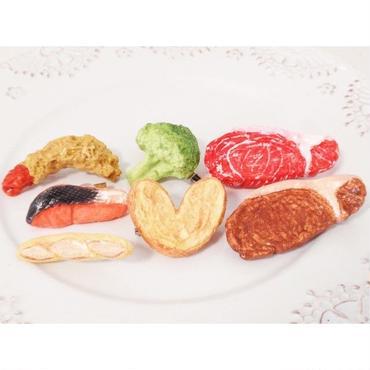 写真全部セット!焼き鮭ブロッコリー肉パンエビフライパイ☆ブローチ★