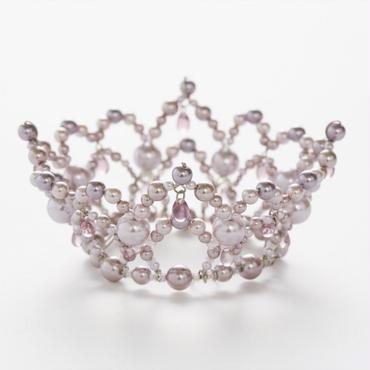 Pink Beige Pearl Crown