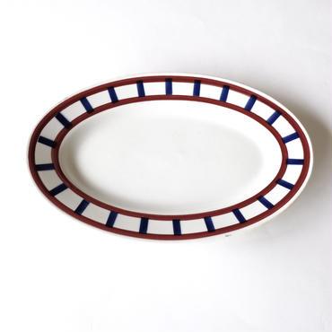 バスクスタイルのオーバル皿  (PL44) 1枚
