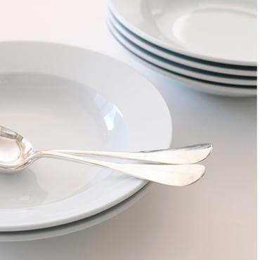 オリジナルスープ皿&レリーフスプーンとフォーク  (SET2)