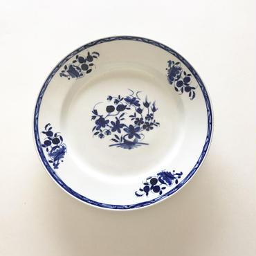 [TOURNAI] 青い花皿  (PL23)   1枚