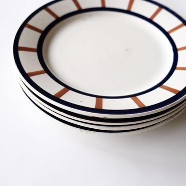 バスクスタイルのトリコロール皿  (PL27)  1枚