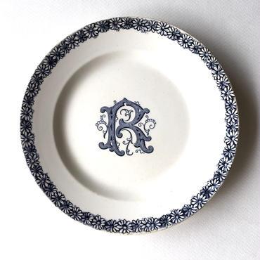 青い花皿 R (PL16) 1枚