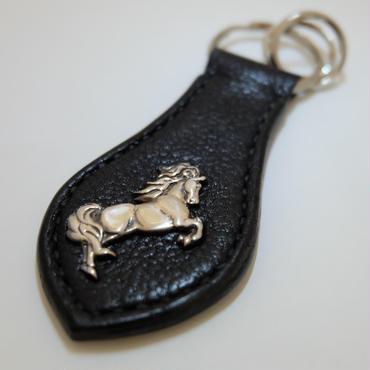 キーホルダー horse black 1