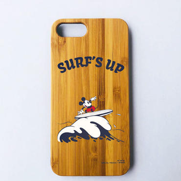 【SURF MICKEY】 iPhone8Plus CASE BAMBOO / SURF'S UP [SM17FW-IP03]