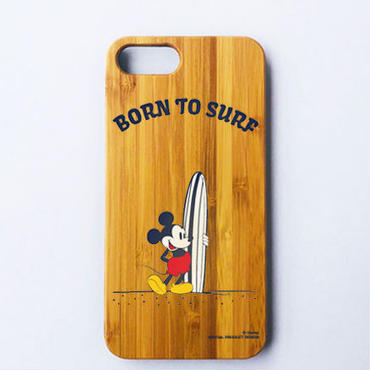 【SURF MICKEY】 iPhone8Plus CASE BAMBOO / BORN TO SURF [SM17FW-IP02]