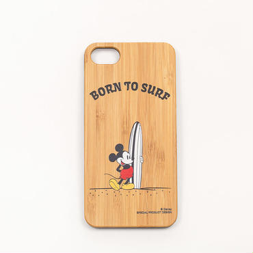 【SURF MICKEY】 iPhone8 CASE BAMBOO / BORN TO SURF [SM17SS-IP01]