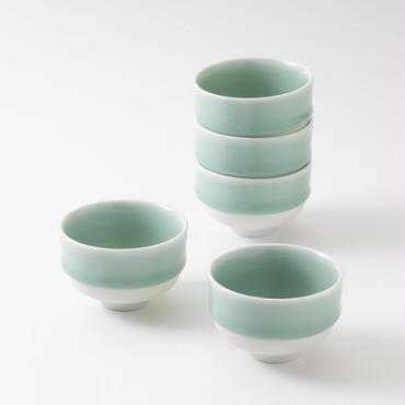 鍋島青磁 煎茶碗(五個)