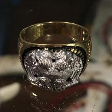 Vintage 14K Gold Masonic Scottish rite 32 Degrees Ring フリーメイソン スコティッシュライト ピンキーリング 13号
